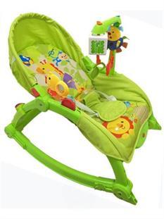 Baby Mix Houpací lehátko pro miminko do 18 kg 2 v 1 - green