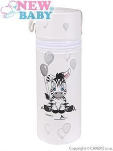 CEBA Termoobal na kojeneckou láhev Standard - bílá zebra