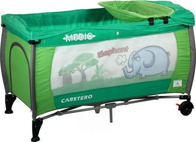 Caretero MEDIO Safari - green cestovní postýlka