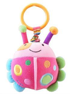 Baby Mix Plyšová hračka s vibrací - beruška