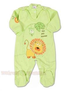 2D kojenecká soupravička vel. 56 - zelený lvíček