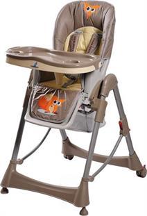 Jídelní židlička CARETERO RoYo brown hnědá