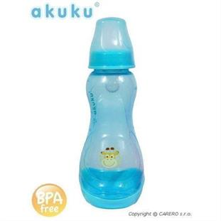 Kojenecká barevná láhev AKUKU 250 ml - modrá