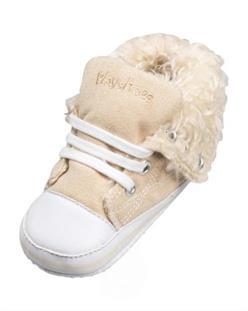 Playshoes Zimní kojenecké tenisky s kožíškem NATUR - vel. 18
