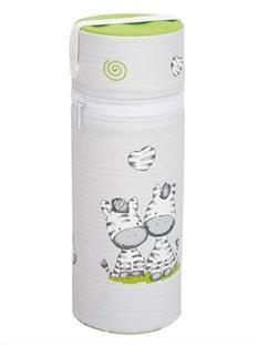 CEBA Termoobal na kojeneckou láhev Standard - šedá zebra
