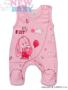 New Baby kojenecké dupačky BUNNY - růžová vel. 62