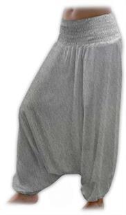 Turecké nohavice nielen pre tehotné - šedý melír