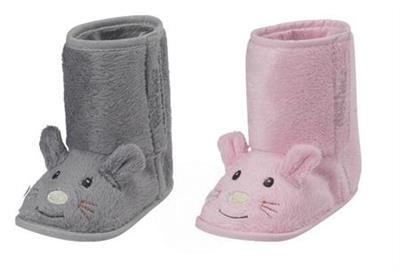 Playshoes Zimní fleece capáčky Růžová myška - vel. 18/19