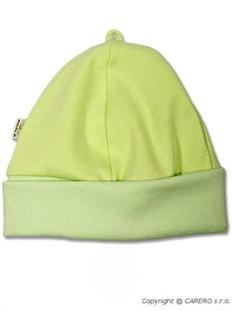 KOALA Bavlněná kojenecká čepička vel. 62 - zelená