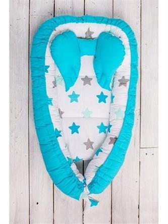 BELISIMA Hnízdečko pro miminko Hvězdička - tyrkysové