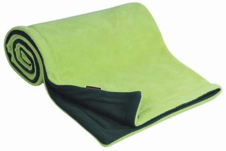 Deka fleece Emitex 70x100 cm - antracit / limetka