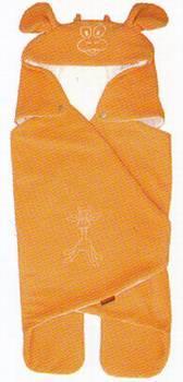 Letní zavinovačka do autosedačky - pomerančová - žirafa
