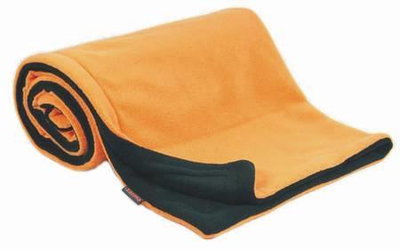 Deka fleece 70x100 cm - antracit / oranžová