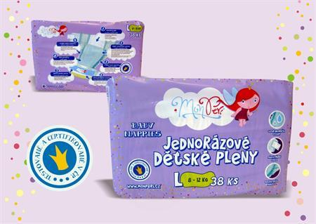 České jednorázové dětské pleny - detské plienky