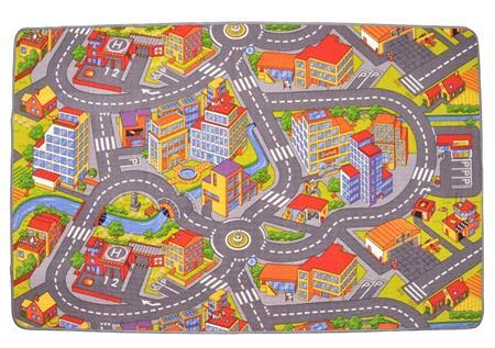 Vopi Dětský koberec Silnice Rallye, 140 x 200 cm