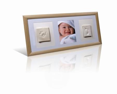 Baby Otisk trojrámeček dřevěný