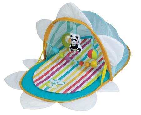 Hrací deka s hrazdičkou a se stříškou s UV filtrem