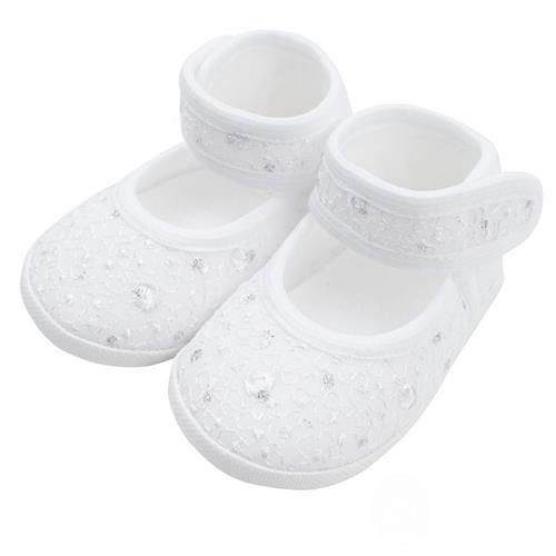 New Baby Kojenecké capáčky bílo-stříbrné 0-3 m
