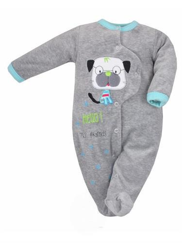 Sametový kojenecký overal pro miminko