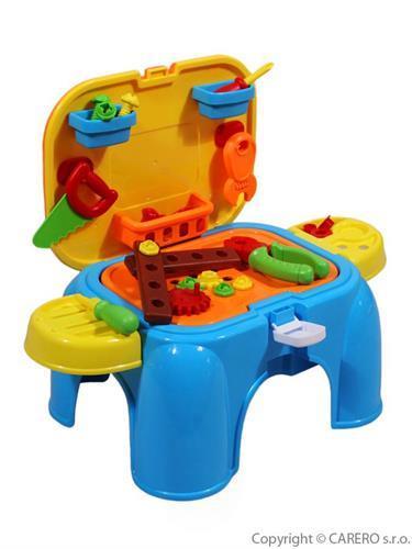 Dětská dílna s nářadím a stolička v jednom
