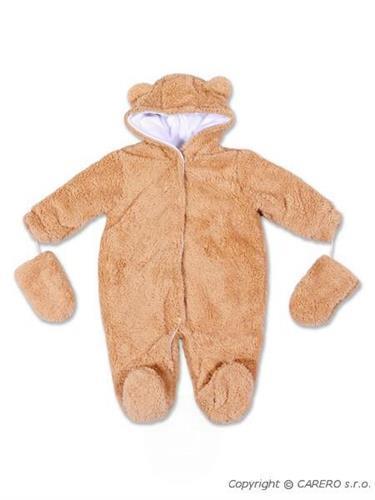 Zimní kojenecký overal - dojčenský zimný overal
