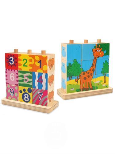 Dřevěné skládací kostky - drevené skladacie kocky